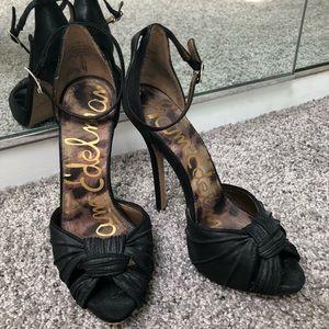 Sam Edelman high black sandals.7us great condition